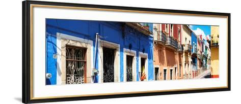 ¡Viva Mexico! Panoramic Collection - Facades of Colors in Guanajuato-Philippe Hugonnard-Framed Art Print