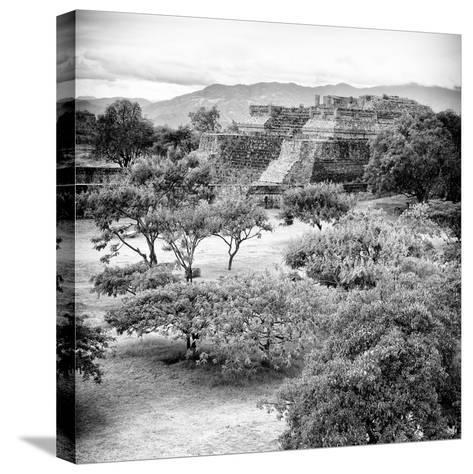 ¡Viva Mexico! Square Collection - Pyramid Maya of Monte Alban VI-Philippe Hugonnard-Stretched Canvas Print