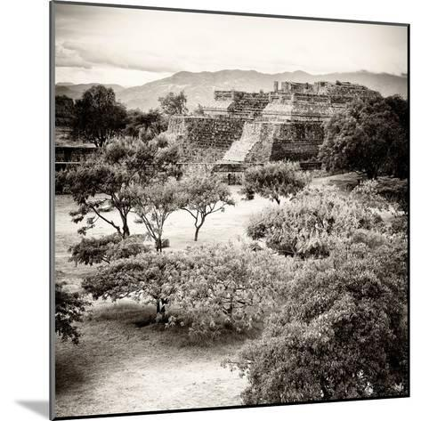 ¡Viva Mexico! Square Collection - Pyramid Maya of Monte Alban V-Philippe Hugonnard-Mounted Photographic Print