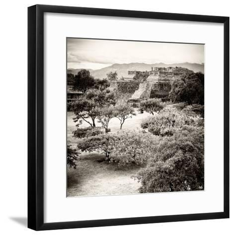 ¡Viva Mexico! Square Collection - Pyramid Maya of Monte Alban V-Philippe Hugonnard-Framed Art Print