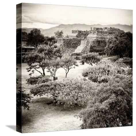 ¡Viva Mexico! Square Collection - Pyramid Maya of Monte Alban V-Philippe Hugonnard-Stretched Canvas Print