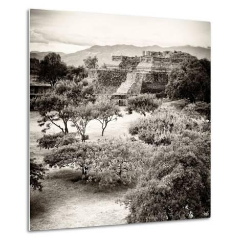 ¡Viva Mexico! Square Collection - Pyramid Maya of Monte Alban V-Philippe Hugonnard-Metal Print