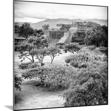 ¡Viva Mexico! Square Collection - Pyramid Maya of Monte Alban VI-Philippe Hugonnard-Mounted Photographic Print