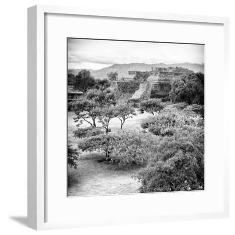 ¡Viva Mexico! Square Collection - Pyramid Maya of Monte Alban VI-Philippe Hugonnard-Framed Art Print