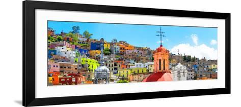 ¡Viva Mexico! Panoramic Collection - City of Colors Guanajuato-Philippe Hugonnard-Framed Art Print
