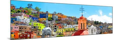¡Viva Mexico! Panoramic Collection - City of Colors Guanajuato-Philippe Hugonnard-Mounted Photographic Print