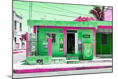 "¡Viva Mexico! Collection - ""La Esquina"" Green Supermarket - Cancun-Philippe Hugonnard-Mounted Photographic Print"