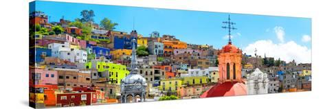 ¡Viva Mexico! Panoramic Collection - City of Colors Guanajuato-Philippe Hugonnard-Stretched Canvas Print