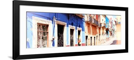 ¡Viva Mexico! Panoramic Collection - Facades of Colors in Guanajuato II-Philippe Hugonnard-Framed Art Print