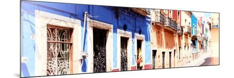 ¡Viva Mexico! Panoramic Collection - Facades of Colors in Guanajuato II-Philippe Hugonnard-Mounted Photographic Print