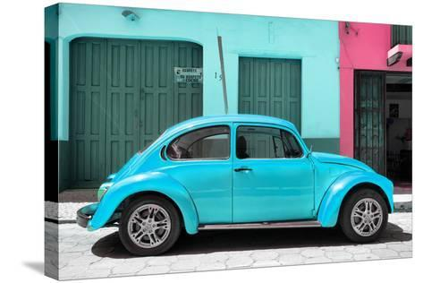 ?Viva Mexico! Collection - The Turquoise Beetle Car-Philippe Hugonnard-Stretched Canvas Print