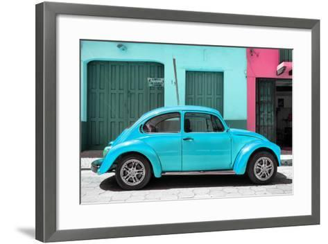 ?Viva Mexico! Collection - The Turquoise Beetle Car-Philippe Hugonnard-Framed Art Print