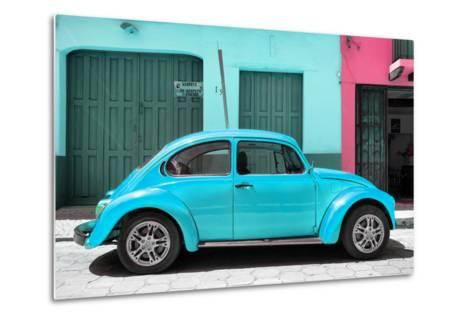 ?Viva Mexico! Collection - The Turquoise Beetle Car-Philippe Hugonnard-Metal Print