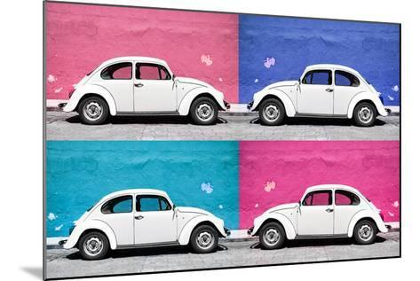 ¡Viva Mexico! Collection - Four VW Beetle Cars II-Philippe Hugonnard-Mounted Photographic Print
