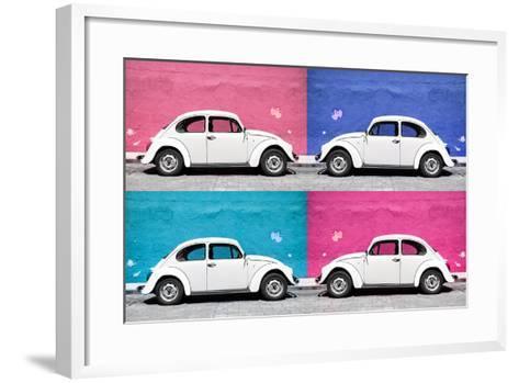 ¡Viva Mexico! Collection - Four VW Beetle Cars II-Philippe Hugonnard-Framed Art Print