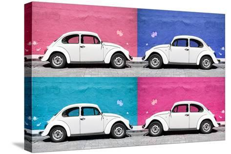 ¡Viva Mexico! Collection - Four VW Beetle Cars II-Philippe Hugonnard-Stretched Canvas Print