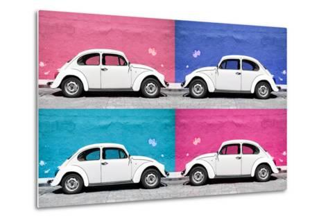 ¡Viva Mexico! Collection - Four VW Beetle Cars II-Philippe Hugonnard-Metal Print