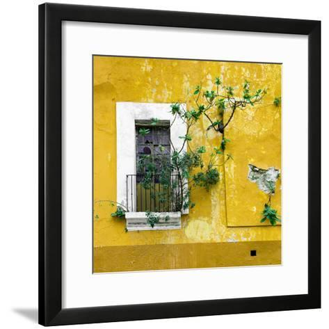 ¡Viva Mexico! Square Collection - Old Yellow Facade II-Philippe Hugonnard-Framed Art Print