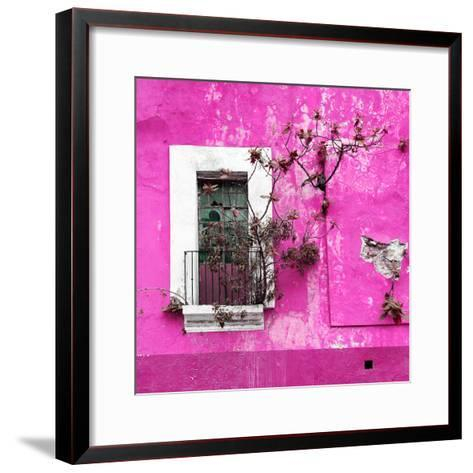 ¡Viva Mexico! Square Collection - Old Deep Pink Facade II-Philippe Hugonnard-Framed Art Print
