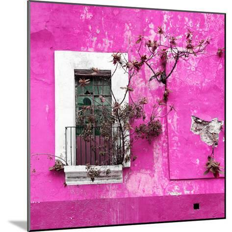 ¡Viva Mexico! Square Collection - Old Deep Pink Facade II-Philippe Hugonnard-Mounted Photographic Print