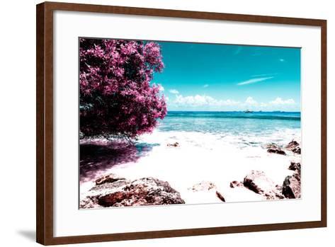 ¡Viva Mexico! Collection - Pink Caribbean Coastline - Isla Mujeres-Philippe Hugonnard-Framed Art Print