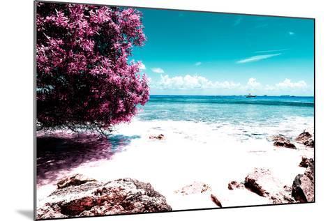 ¡Viva Mexico! Collection - Pink Caribbean Coastline - Isla Mujeres-Philippe Hugonnard-Mounted Photographic Print