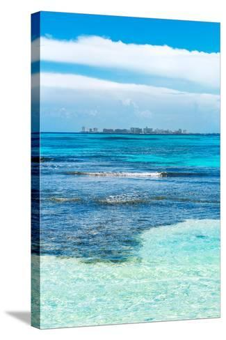 ?Viva Mexico! Collection - Caribbean Coastline overlooking Cancun II-Philippe Hugonnard-Stretched Canvas Print