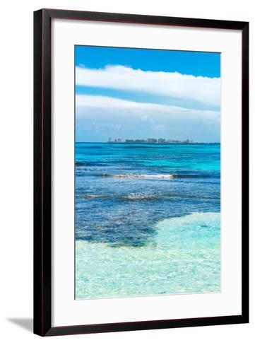 ?Viva Mexico! Collection - Caribbean Coastline overlooking Cancun II-Philippe Hugonnard-Framed Art Print
