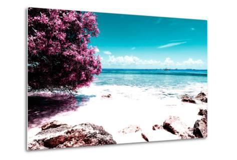 ¡Viva Mexico! Collection - Pink Caribbean Coastline - Isla Mujeres-Philippe Hugonnard-Metal Print