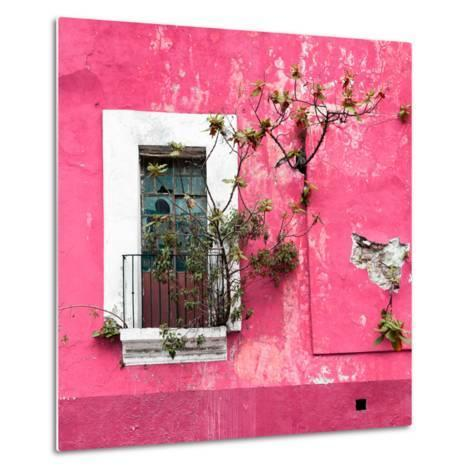 ¡Viva Mexico! Square Collection - Old Pink Facade II-Philippe Hugonnard-Metal Print