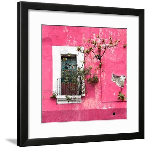 ¡Viva Mexico! Square Collection - Old Pink Facade II-Philippe Hugonnard-Framed Art Print