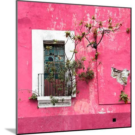 ¡Viva Mexico! Square Collection - Old Pink Facade II-Philippe Hugonnard-Mounted Photographic Print