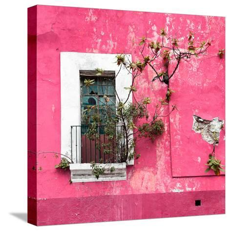¡Viva Mexico! Square Collection - Old Pink Facade II-Philippe Hugonnard-Stretched Canvas Print