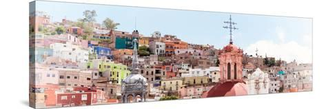 ¡Viva Mexico! Panoramic Collection - City of Colors Guanajuato II-Philippe Hugonnard-Stretched Canvas Print
