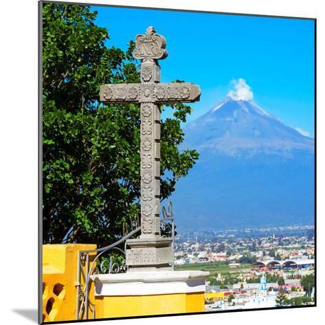 ¡Viva Mexico! Square Collection - Popocatepetl Volcano in Puebla VIII-Philippe Hugonnard-Mounted Photographic Print