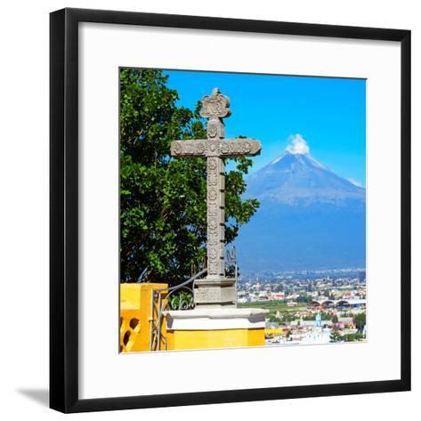 ¡Viva Mexico! Square Collection - Popocatepetl Volcano in Puebla VIII-Philippe Hugonnard-Framed Art Print
