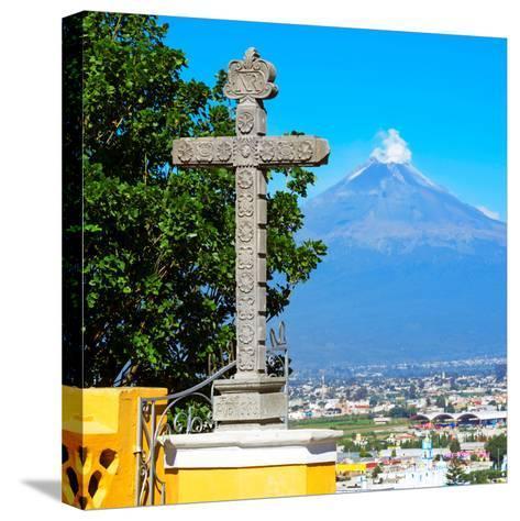 ¡Viva Mexico! Square Collection - Popocatepetl Volcano in Puebla VIII-Philippe Hugonnard-Stretched Canvas Print