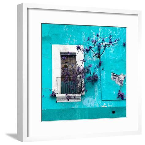 ¡Viva Mexico! Square Collection - Old Turquoise Facade II-Philippe Hugonnard-Framed Art Print