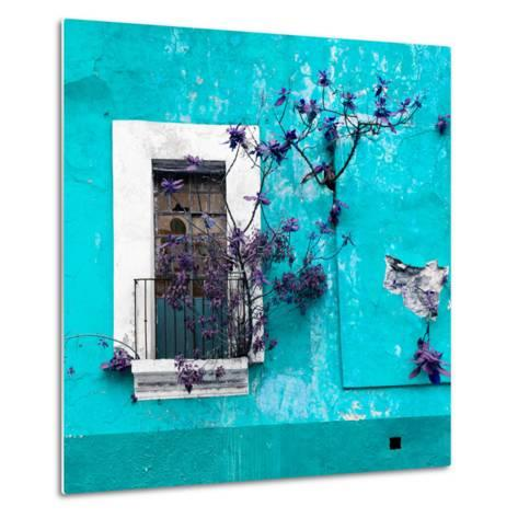 ¡Viva Mexico! Square Collection - Old Turquoise Facade II-Philippe Hugonnard-Metal Print