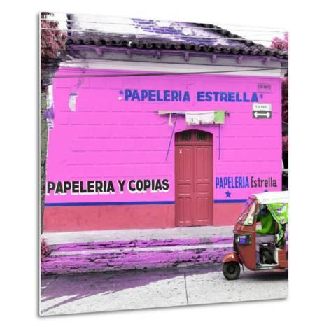 ¡Viva Mexico! Square Collection - Pink Papeleria-Philippe Hugonnard-Metal Print