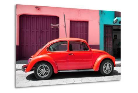 ?Viva Mexico! Collection - The Red Beetle Car-Philippe Hugonnard-Metal Print