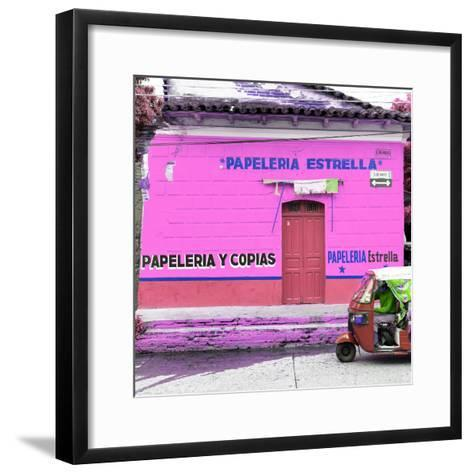 ¡Viva Mexico! Square Collection - Pink Papeleria-Philippe Hugonnard-Framed Art Print