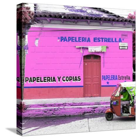 ¡Viva Mexico! Square Collection - Pink Papeleria-Philippe Hugonnard-Stretched Canvas Print