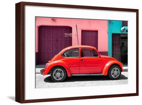 ?Viva Mexico! Collection - The Red Beetle Car-Philippe Hugonnard-Framed Art Print