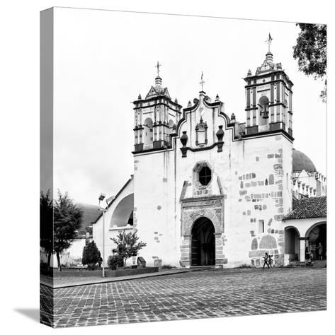 ?Viva Mexico! Square Collection - Mexican White Church II-Philippe Hugonnard-Stretched Canvas Print