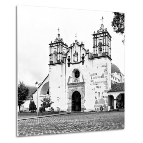?Viva Mexico! Square Collection - Mexican White Church II-Philippe Hugonnard-Metal Print