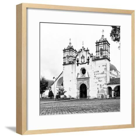 ?Viva Mexico! Square Collection - Mexican White Church II-Philippe Hugonnard-Framed Art Print