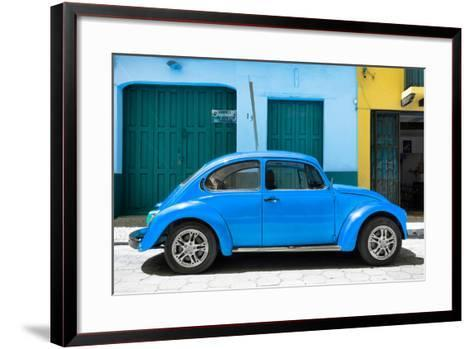 ?Viva Mexico! Collection - The Blue Beetle Car-Philippe Hugonnard-Framed Art Print