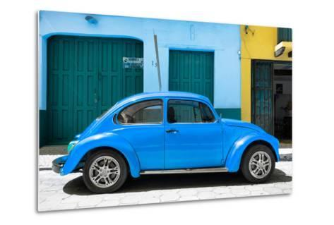 ?Viva Mexico! Collection - The Blue Beetle Car-Philippe Hugonnard-Metal Print