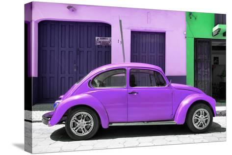 ¡Viva Mexico! Collection - The Purple Beetle Car-Philippe Hugonnard-Stretched Canvas Print